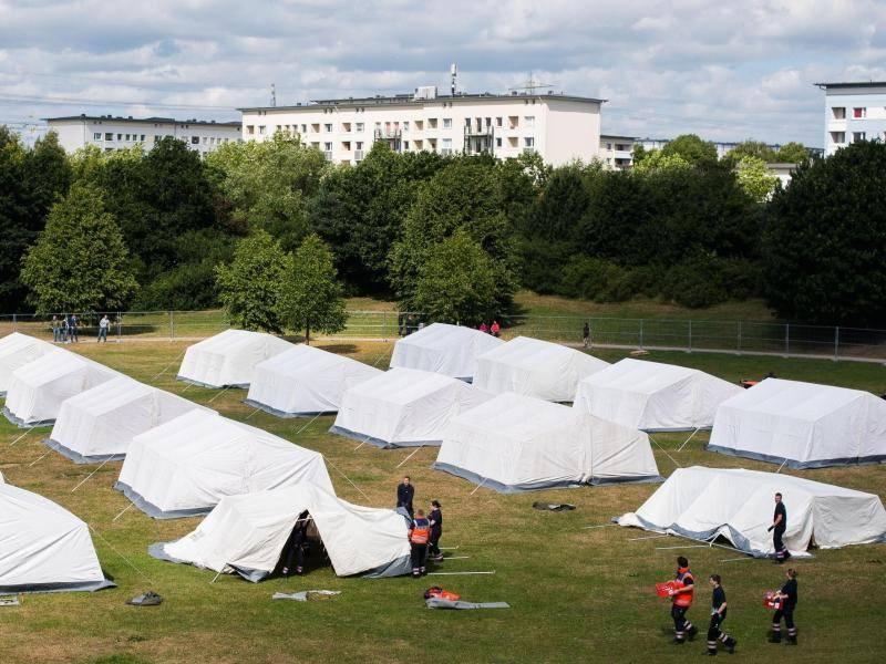 Zelte Flüchtlinge